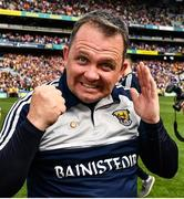 30 June 2019; Wexford manager Davy Fitzgerald celebrates after the Leinster GAA Hurling Senior Championship Final match between Kilkenny and Wexford at Croke Park in Dublin. Photo by Ray McManus/Sportsfile