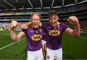 30 June 2019; Diarmuid O'Keeffe, left, and Conor McDonald of Wexford following the Leinster GAA Hurling Senior Championship Final match between Kilkenny and Wexford at Croke Park in Dublin. Photo by Ramsey Cardy/Sportsfile