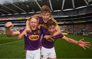 30 June 2019; Diarmuid O'Keeffe, left, Joe O'Connor, centre, and Conor McDonald of Wexford following the Leinster GAA Hurling Senior Championship Final match between Kilkenny and Wexford at Croke Park in Dublin. Photo by Ramsey Cardy/Sportsfile