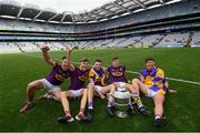 30 June 2019; Conor Firman, Joe O'Connor, Rory O'Connor, Jack O'Connor and Conor McDonald of Wexford following the Leinster GAA Hurling Senior Championship Final match between Kilkenny and Wexford at Croke Park in Dublin. Photo by Ramsey Cardy/Sportsfile
