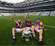 30 June 2019; Rory O'Connor, Jack O'Connor and Conor McDonald of Wexford following the Leinster GAA Hurling Senior Championship Final match between Kilkenny and Wexford at Croke Park in Dublin. Photo by Ramsey Cardy/Sportsfile