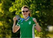 30 June 2019; Women's Featherweight bronze medallist Michaela Walsh of Ireland prior to the closing ceremony on Day 10 of the Minsk 2019 2nd European Games in Minsk, Belarus. Photo by Seb Daly/Sportsfile