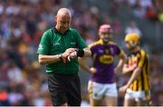 30 June 2019; Referee John Keenan during the Leinster GAA Hurling Senior Championship Final match between Kilkenny and Wexford at Croke Park in Dublin. Photo by Ramsey Cardy/Sportsfile