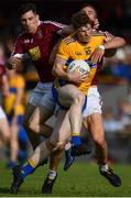 29 June 2019; Sean O'Donoghue of Clare in action against James Dolan, left, and Kevin Maguire of Westmeath during the GAA Football All-Ireland Senior Championship Round 3 match between Westmeath and Clare at TEG Cusack Park in Mullingar, Westmeath. Photo by Sam Barnes/Sportsfile