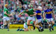 30 June 2019; Gearóid Hegarty of Limerick in action against Seán O'Brien of Tipperary during the Munster GAA Hurling Senior Championship Final match between Limerick and Tipperary at LIT Gaelic Grounds in Limerick. Photo by Piaras Ó Mídheach/Sportsfile