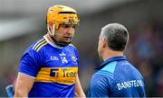 30 June 2019; Tipperary captain Séamus Callanan with his manager Liam Sheedy before the Munster GAA Hurling Senior Championship Final match between Limerick and Tipperary at LIT Gaelic Grounds in Limerick. Photo by Piaras Ó Mídheach/Sportsfile