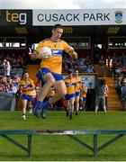 29 June 2019; Gary Brennan of Clare leads his team out ahead of the GAA Football All-Ireland Senior Championship Round 3 match between Westmeath and Clare at TEG Cusack Park in Mullingar, Westmeath. Photo by Sam Barnes/Sportsfile