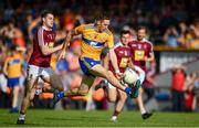 29 June 2019; Gary Brennan of Clare in action against Sam Duncan of Westmeath during the GAA Football All-Ireland Senior Championship Round 3 match between Westmeath and Clare at TEG Cusack Park in Mullingar, Westmeath. Photo by Sam Barnes/Sportsfile