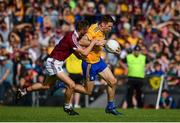 29 June 2019; Gary Brennan of Clare in action against Kevin Maguire of Westmeath during the GAA Football All-Ireland Senior Championship Round 3 match between Westmeath and Clare at TEG Cusack Park in Mullingar, Westmeath. Photo by Sam Barnes/Sportsfile