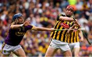 30 June 2019; Kevin Foley of Wexford blocks a shot at goal by Adrian Mullen of Kilkenny during the Leinster GAA Hurling Senior Championship Final match between Kilkenny and Wexford at Croke Park in Dublin. Photo by Ramsey Cardy/Sportsfile