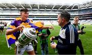30 June 2019; Wexford manager Davy Fitzgerald and Conor McDonald of Wexford following the Leinster GAA Hurling Senior Championship Final match between Kilkenny and Wexford at Croke Park in Dublin. Photo by Ramsey Cardy/Sportsfile