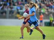 30 June 2019; Noelle Healy of Dublin in action against Vicky Carr of Westmeath during the Ladies Football Leinster Senior Championship Final match between Dublin and Westmeath at Netwatch Cullen Park in Carlow. Photo by Sam Barnes/Sportsfile