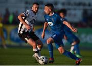 1 July 2019; Shane Duggan of Waterford in action against Michael Duffy of Dundalk during the SSE Airtricity League Premier Division match between Dundalk and Waterford at Oriel Park in Dundalk, Louth. Photo by Ben McShane/Sportsfile