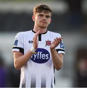 1 July 2019; Seán Gannon of Dundalk applauds the supporters following the SSE Airtricity League Premier Division match between Dundalk and Waterford at Oriel Park in Dundalk, Louth. Photo by Ben McShane/Sportsfile