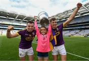 30 June 2019; Rory O'Connor, left, with his sister Grace, and Jack O'Connor of Wexford following the Leinster GAA Hurling Senior Championship Final match between Kilkenny and Wexford at Croke Park in Dublin. Photo by Ramsey Cardy/Sportsfile