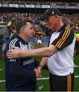 30 June 2019; Wexford manager Davy Fitzgerald shakes hands with Kilkenny manager Brian Cody following the Leinster GAA Hurling Senior Championship Final match between Kilkenny and Wexford at Croke Park in Dublin. Photo by Ramsey Cardy/Sportsfile