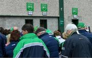 30 June 2019; Supporters queue for tickets before the Munster GAA Hurling Senior Championship Final match between Limerick and Tipperary at LIT Gaelic Grounds in Limerick. Photo by Piaras Ó Mídheach/Sportsfile