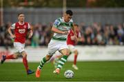 1 July 2019; Aaron Greene of Shamrock Rovers during the SSE Airtricity League Premier Division match between St Patrick's Athletic and Shamrock Rovers at Richmond Park in Dublin. Photo by Eóin Noonan/Sportsfile