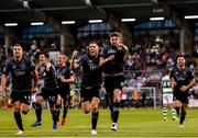 28 June 2019; Seán Gannon of Dundalk celebrates after scoring his side's first goal during the SSE Airtricity League Premier Division match between Shamrock Rovers and Dundalk at Tallaght Stadium in Dublin. Photo by Eóin Noonan/Sportsfile