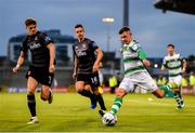 28 June 2019; Trevor Clarke of Shamrock Rovers in action against Seán Gannon of Dundalk during the SSE Airtricity League Premier Division match between Shamrock Rovers and Dundalk at Tallaght Stadium in Dublin. Photo by Ben McShane/Sportsfile