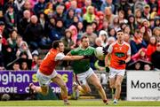29 June 2019; Keith Higgins of Mayo in action against Aidan Forker of Armagh during the GAA Football All-Ireland Senior Championship Round 3 match between Mayo and Armagh at Elverys MacHale Park in Castlebar, Mayo. Photo by Ben McShane/Sportsfile