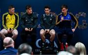 2 July 2019; Jason Foley of Kerry, Hugh McFadden of Donegal, David Byrne of Dublin and Enda Smith of Roscommon during the GAA Football All Ireland Senior Championship Series National Launch at Scotstown GAA Club, St Mary's Park, Scotstown, Co. Monaghan. Photo by Ray McManus/Sportsfile