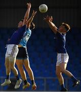 2 June 2019; Gavin Hughes of Longford in action against Ciarán Archer of Dublin during the EirGrid Leinster GAA Football Under 20 Championship Quarter-Final match between Longford and Dublin at Glennon Brothers Pearse Park in Longford. Photo by Eóin Noonan/Sportsfile