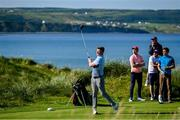 3 July 2019; Galway hurler Joe Canning hits a drive from the 4th tee during the Pro-Am round ahead of the Dubai Duty Free Irish Open at Lahinch Golf Club in Lahinch, Co. Clare. Photo by Ramsey Cardy/Sportsfile