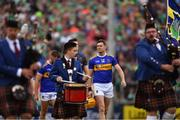 30 June 2019; Tipperary captain Séamus Callanan leads his team-mates in the pre-match parade before the Munster GAA Hurling Senior Championship Final match between Limerick and Tipperary at LIT Gaelic Grounds in Limerick. Photo by Piaras Ó Mídheach/Sportsfile