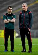 29 June 2019; Mayo manager James Horan with Mayo County Board PRO Paul Cunnane prior to the GAA Football All-Ireland Senior Championship Round 3 match between Mayo and Armagh at Elverys MacHale Park in Castlebar, Mayo. Photo by Brendan Moran/Sportsfile