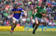 30 June 2019; Jerome Cahill of Tipperary in action against Kyle Hayes of Limerick during the Munster GAA Hurling Senior Championship Final match between Limerick and Tipperary at LIT Gaelic Grounds in Limerick. Photo by Piaras Ó Mídheach/Sportsfile