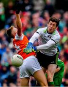 29 June 2019; David Clarke of Mayo in action against David Clarke of Mayo during the GAA Football All-Ireland Senior Championship Round 3 match between Mayo and Armagh at Elverys MacHale Park in Castlebar, Mayo. Photo by Brendan Moran/Sportsfile
