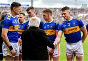 30 June 2019; President Michael D Higgins meets Padraic Maher of Tipperary prior to the Munster GAA Hurling Senior Championship Final match between Limerick and Tipperary at LIT Gaelic Grounds in Limerick. Photo by Brendan Moran/Sportsfile