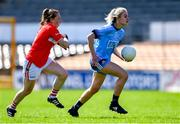 21 April 2019; Nicole Owens of Dublin in action against Ashling Hutchings of Cork during the Lidl NFL Division 1 semi-final match between Cork and Dublin at the Nowlan Park in Kilkenny. Photo by Piaras Ó Mídheach/Sportsfile