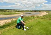 3 July 2019; Gavin Moynihan of Ireland relaxes on the 12th tee box during the Pro-Am round ahead of the Dubai Duty Free Irish Open at Lahinch Golf Club in Lahinch, Co. Clare. Photo by Ramsey Cardy/Sportsfile