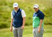 3 July 2019; James Sugrue of Mallow Golf Club, Co. Cork, left, and Caolan Rafferty of Dundalk Golf Club, Co. Louth, right, during the Pro-Am round ahead of the Dubai Duty Free Irish Open at Lahinch Golf Club in Lahinch, Co. Clare. Photo by Ramsey Cardy/Sportsfile