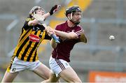 4 July 2019; Diarmuid Kilcommins of Galway in action against David Blanchfield of Kilkenny during the Bord Gais Energy Leinster GAA Hurling U20 Championship semi-final match between Galway and Kilkenny at Bord na Mona O'Connor Park in Tullamore, Offaly. Photo by Matt Browne/Sportsfile