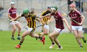 4 July 2019; Eoin Cody of Kilkenny in action against Mark Gill of Galway during the Bord Gais Energy Leinster GAA Hurling U20 Championship semi-final match between Galway and Kilkenny at Bord na Mona O'Connor Park in Tullamore, Offaly. Photo by Matt Browne/Sportsfile