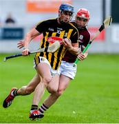 4 July 2019; Eoin O'Shea of Kilkenny in action against TJ Brennan of Galway during the Bord Gais Energy Leinster GAA Hurling U20 Championship semi-final match between Galway and Kilkenny at Bord na Mona O'Connor Park in Tullamore, Offaly. Photo by Matt Browne/Sportsfile