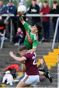 5 July 2019; Emmet Murphy of Mayo in action against Niall Cunningham of Galway during the Electric Ireland Connacht GAA Football Minor Championship Final match between Galway and Mayo at Tuam Stadium in Tuam, Galway. Photo by Matt Browne/Sportsfile