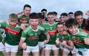 5 July 2019; Mayo players celebrate following the Electric Ireland Connacht GAA Football Minor Championship Final match between Galway and Mayo at Tuam Stadium in Tuam, Galway. Photo by Matt Browne/Sportsfile