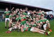 5 July 2019; Mayo players celebrate with the cup following the Electric Ireland Connacht GAA Football Minor Championship Final match between Galway and Mayo at Tuam Stadium in Tuam, Galway. Photo by Matt Browne/Sportsfile