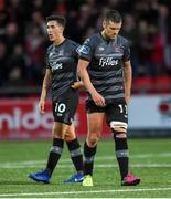 5 July 2019; A disappointed Jamie McGrath and Patrick McEleney of Dundalk after the SSE Airtricity League Premier Division match between Derry City and Dundalk at the Ryan McBride Brandywell Stadium in Derry. Photo by Oliver McVeigh/Sportsfile