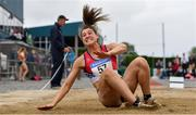 6 July 2019; Katherine O'Connor of Dundalk St. Gerards A.C., Co.Louth, competing in the Junior Long Jump event during the Irish Life Health Junior and U23 Outdoor Track and Field Championships at Tullamore Harriers Stadium, Tullamore in Offaly. Photo by Sam Barnes/Sportsfile