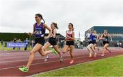 6 July 2019; A general view of the field during Junior Women's 800m during the Irish Life Health Junior and U23 Outdoor Track and Field Championships at Tullamore Harriers Stadium, Tullamore in Offaly. Photo by Sam Barnes/Sportsfile