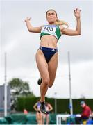 6 July 2019; Laura Cussen of Old Abbey A.C., Co. Cork, competing in the U23 Long Jump event during the Irish Life Health Junior and U23 Outdoor Track and Field Championships at Tullamore Harriers Stadium, Tullamore in Offaly. Photo by Sam Barnes/Sportsfile