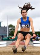 6 July 2019; Grace Furlong of Waterford A.C., Co. Waterford, competing in the U23 Long Jump event during the Irish Life Health Junior and U23 Outdoor Track and Field Championships at Tullamore Harriers Stadium, Tullamore in Offaly. Photo by Sam Barnes/Sportsfile