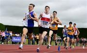 6 July 2019; James Dunne of Tullamore Harriers A.C., Co. Offaly, left, on his way to winning the Junior 1500m event, ahead of Jack Maher of Galway City Harriers A.C., Co. Galway, who finished second, during the Irish Life Health Junior and U23 Outdoor Track and Field Championships at Tullamore Harriers Stadium, Tullamore in Offaly. Photo by Sam Barnes/Sportsfile