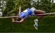 6 July 2019; Nelvin Appiah of Longford A.C., Co. Longford, competing in the Junior High Jump event during the Irish Life Health Junior and U23 Outdoor Track and Field Championships at Tullamore Harriers Stadium, Tullamore in Offaly. Photo by Sam Barnes/Sportsfile