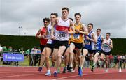 6 July 2019; Jack Maher of Galway City Harriers A.C., Co. Galway, leads the field whilst competing in the Junior 1500m event during the Irish Life Health Junior and U23 Outdoor Track and Field Championships at Tullamore Harriers Stadium, Tullamore in Offaly. Photo by Sam Barnes/Sportsfile